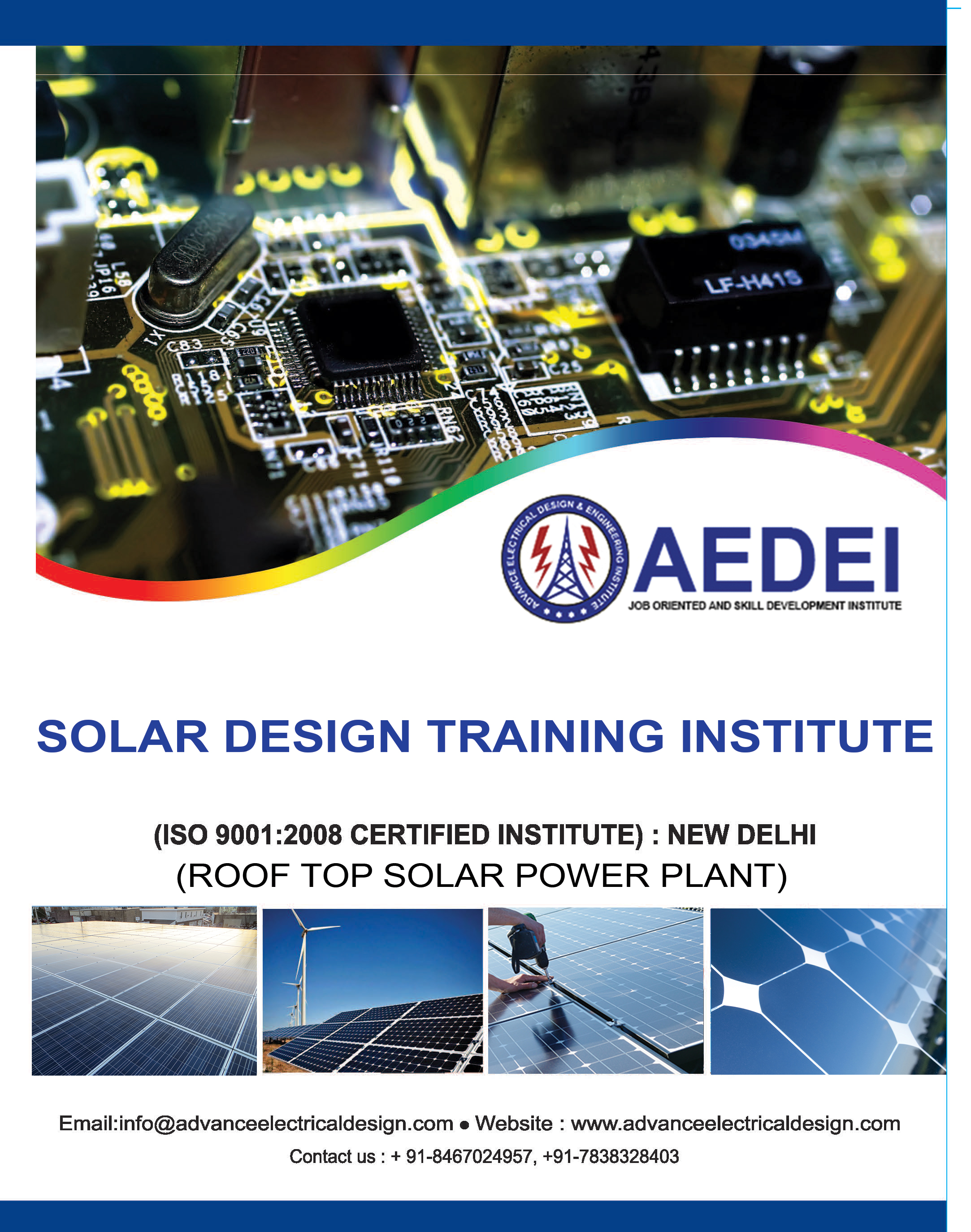 Rooftop Design Training Advance Solar Institute In Delhi Electricity Basic Navy Courses Syllabus Electrical Institutue
